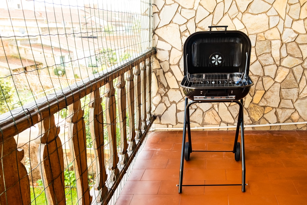 A small and portable grill