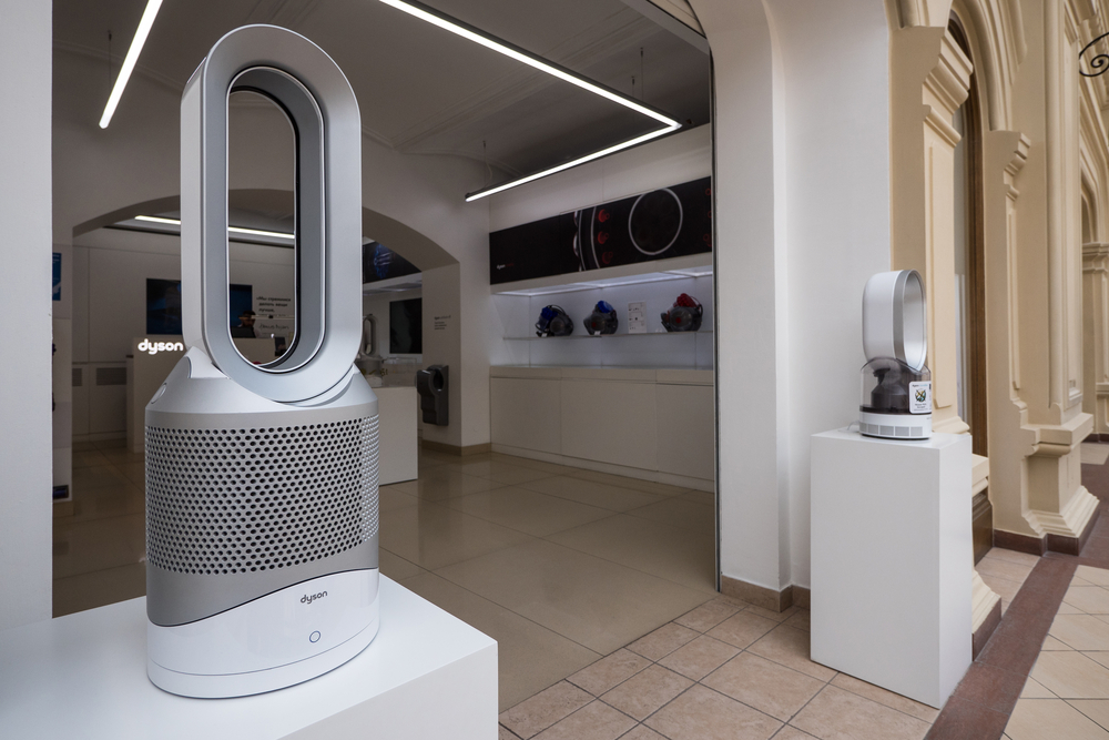 Air cooling appliances Inside the Dyson store