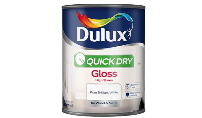 Dulux Quick Dry Gloss Paint For Wood And Metal