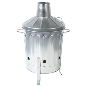 EasyShopping Small 15L Metal Galvanised