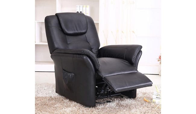 More4Homes Bonded Leather Electric Rise Recliner Armchair