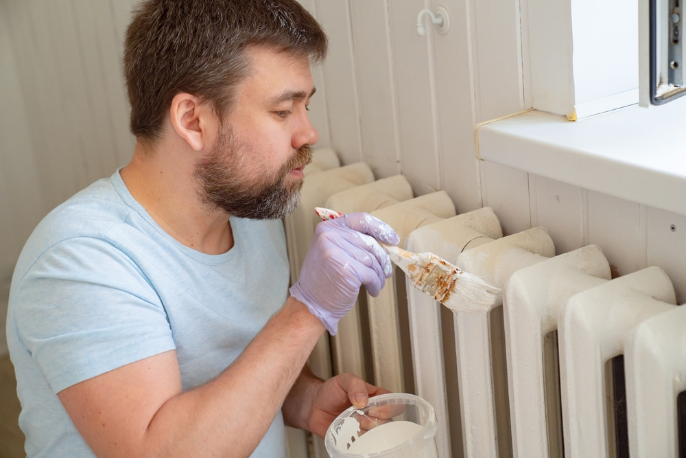 how to remove a radiator to paint behind it