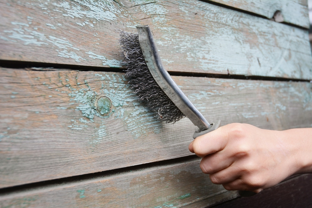 how to remove exterior paint from wood